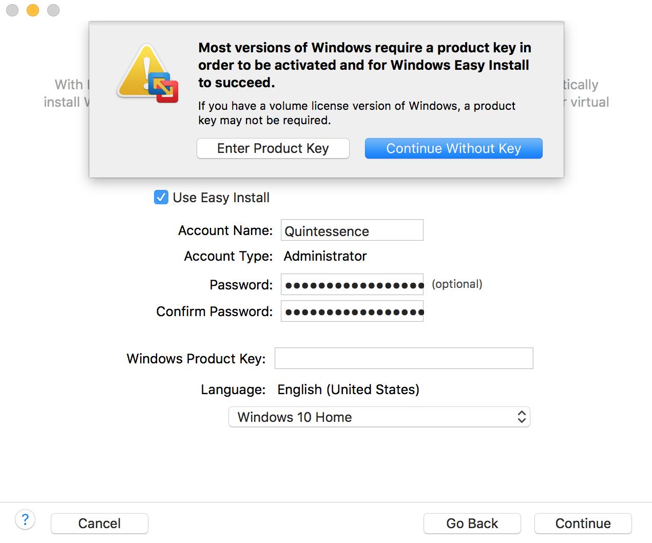 macOS 10, Windows 10, and VMWare Fusion 10
